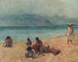 Henri Lebasque. Bathers at Saint-Tropez