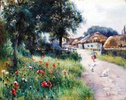 Михаил Андреевич Беркос. Село летом