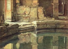 Edward John Poynter. The Roman circular bath