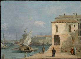 Джованни Антонио Каналь (Каналетто). Фонтегетто делла Фарина в Венеции