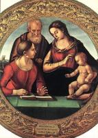 Лука Синьорелли. Мадонна с младенцем и Святой Иосиф