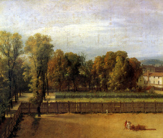 Jacques-Louis David. The view of the garden in the Luxembourg Palace