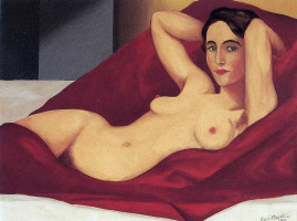 Rene Magritte. Reclining Nude