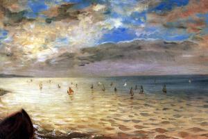 Эжен Делакруа. Вид на море с холмов в Дьеппе