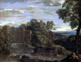 Доменикино . Пейзаж с Бегством в Египет