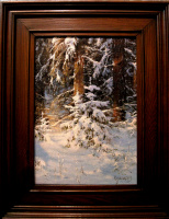 German Aleksandrovich Kulikov. Christmas trees in the forest.