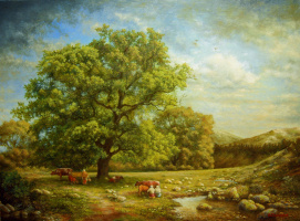 Андрей Доманин. Пейзаж с ручьем