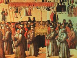 Gentile Bellini. On the square