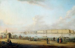 Иоганн Георг де Майр. Вид на Зимний дворец