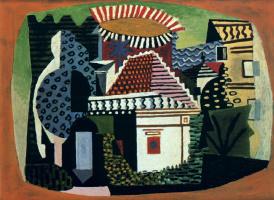 Пабло Пикассо. Пейзаж в Хуан-ле-Пэн