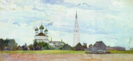 Pavel Dmitrievich Korin Russia 1892 - 1967. Palekh. b. AC gouache whitewash Private collection