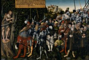 Лукас Кранах Младший. Проповедь святого Иоанна Крестителя. 1549