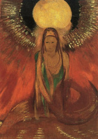 Одилон Редон. Пламя (Богиня Огня)
