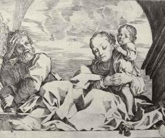 Лодовико Карраччи. Святое семейство под аркой