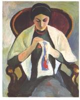 Август Маке. Вышивальщица