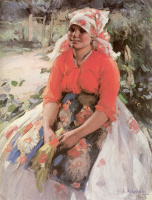 Абрам Ефимович Архипов. Крестьянская девушка