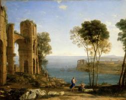 Желле Клод. Пейзаж с Аполлоном и Сивиллой Кумской