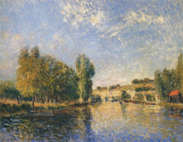 Alfred Sisley. The Loing in Moret