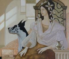 Александр Мельников. Девушка с собакой. 2006
