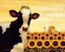 Лоуэлл Эрреро. Подсолнечники и корова