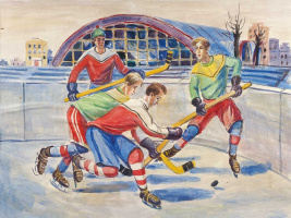 Alexander Alexandrovich Deineka. The hockey players. Sketch for a mosaic