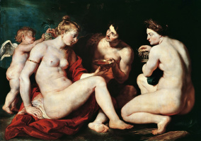 Peter Paul Rubens. Venus, Cupid, Bacchus and Ceres