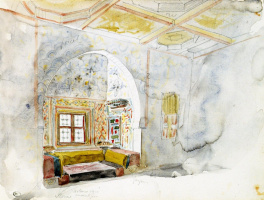 Эжен Делакруа. Комната с нишей во дворце султана Мекнеса