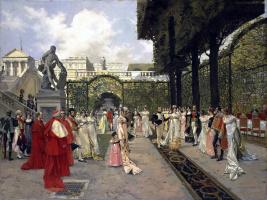 Франсуа Фламенг. Наполеон I и папа Римский в Сен-Клу в 1811 г