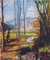 Winston Churchill. A view of the river var. France.