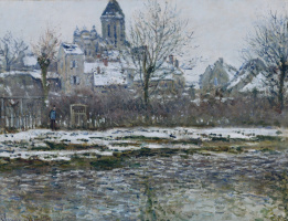 Claude Monet. The Church in WEEE, snow
