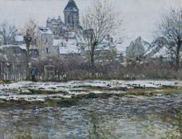 Клод Моне. Церковь в Ветёе, снег