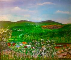 Марианна Дмитриевна Солтук. Вид на Ужанскую долину весной.