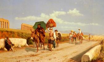 Пьетро Габрини. Путешественники в Римской Кампаньи