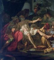 Жак-Луи Давид. Смерть Сенеки. Фрагмент II