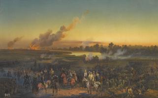 Bogdan Pavlovich Willewalde. Three works depicting the siege of Silistra. 1854 45 x 71