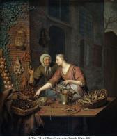 Виллем ван Мирис. Продавщица фруктов