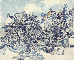 Vincent van Gogh. An old vineyard and a farmer