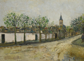 Морис Утрилло. Церковь и улица Монманьи