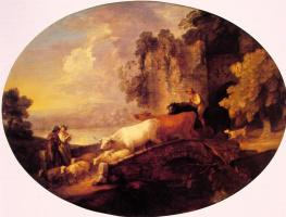 Томас Гейнсборо. Речной пейзаж