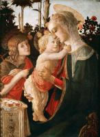 Sandro Botticelli. Madonna and child with John the Baptist