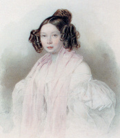 Петр Федорович Соколов. Графиня Юлия Павловна Тизенгаузен.  1835