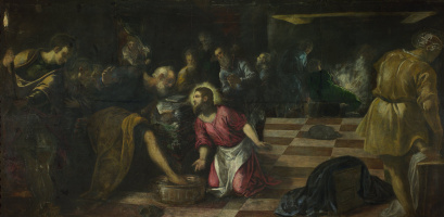 Jacopo (Robusti) Tintoretto. Christ washes the feet of the disciples