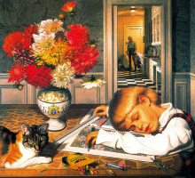 Стоун Робертс. Мальчик и кот
