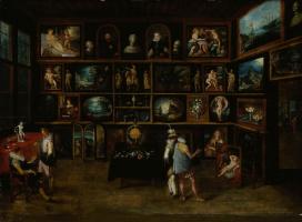 Hieronymous Francken II. Ценители искусства в галерее