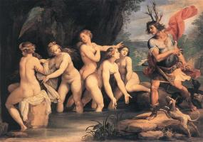 Чезари Джузеппе (Кавалер д'Арпино). Diana And Actaeon
