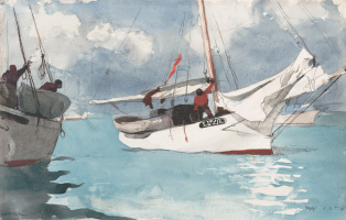 Winslow Homer. Fishing boats. Key West, FL