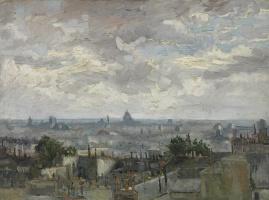 Винсент Ван Гог. Вид на крыши Парижа