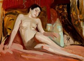 Joaquin Sorolla (Soroya). A Nude study
