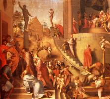 Якопо Понтормо. Иосиф с Иаковом в Египте