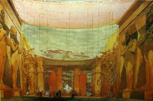 """Lev (Leon) Bakst. Set for the ballet """"Cleopatra"""""""